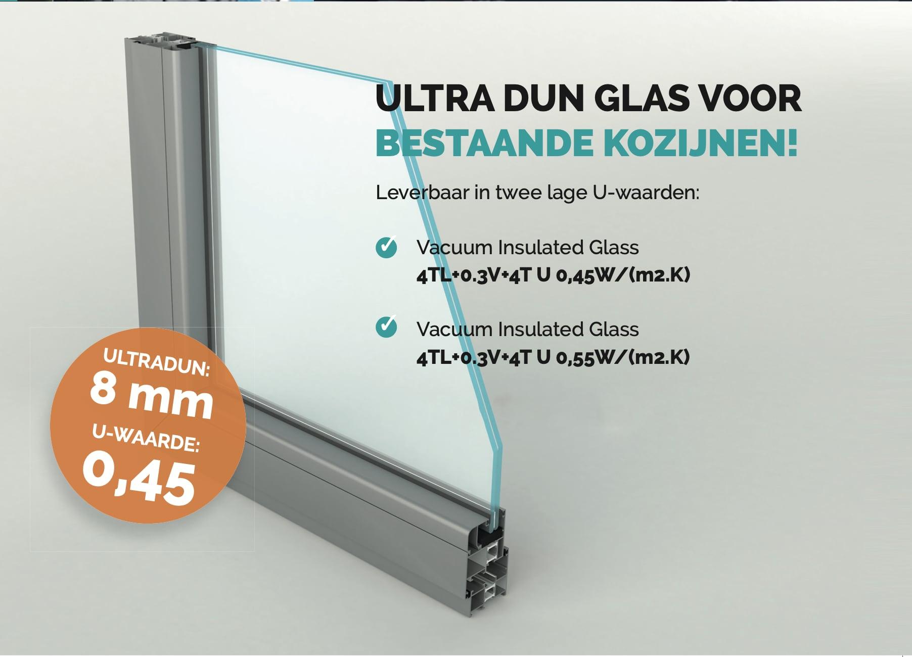 GSF - ultradun vacuüm glas